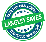 Take the Langley Saves Challenge (Logo)