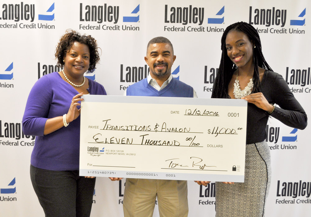 Langley Federal Credit Union Donates 11 000 To Domestic Violence Agencies