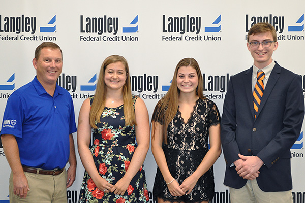 Scholarship Recipients - Megan Cooker, Daniel Prohaska, Gabriella Crooks and Taylor Sharp